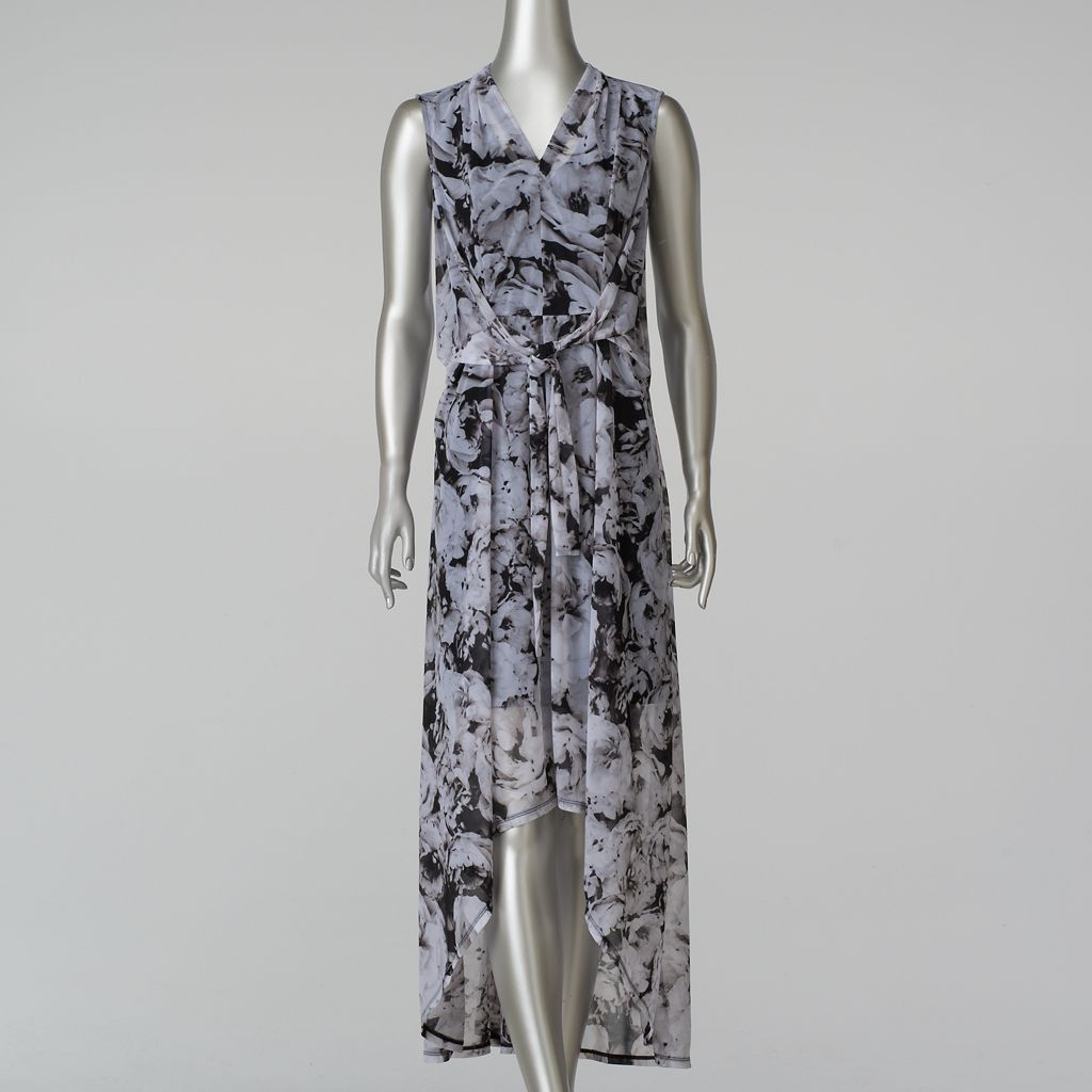 Women's Simply Vera Vera Wang Print High-Low Maxi Dress