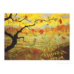 Art.com Apple Tree with Red Fruit c.1902 Wall Art Print