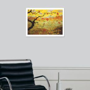 Art.com Apple Tree with Red Fruit c.1902 Wall Art Print