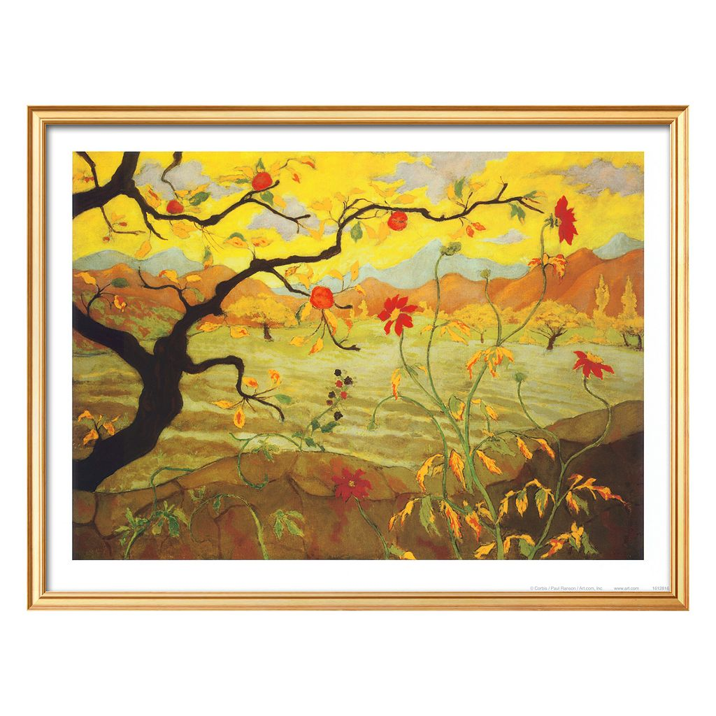 Art.com Apple Tree With Red Fruit, c.1902 Framed Wall Art