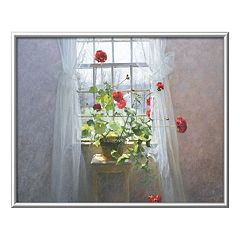 Art.com Red Geraniums Framed Wall Art