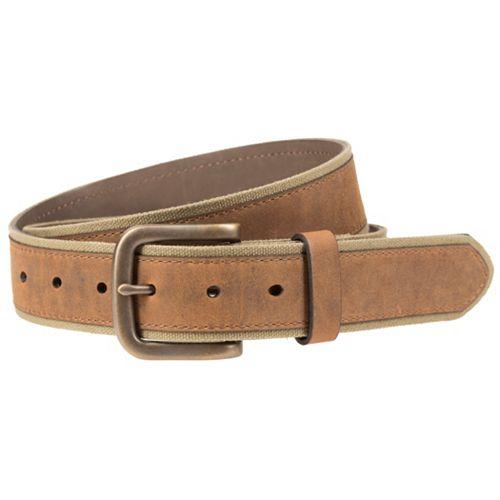 Men's Lee Faux Leather-Overlay Canvas Belt