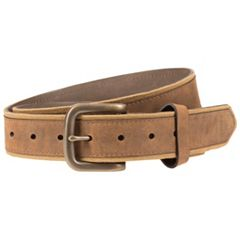 Men's Lee Faux Leather-Overlay Canvas Belt
