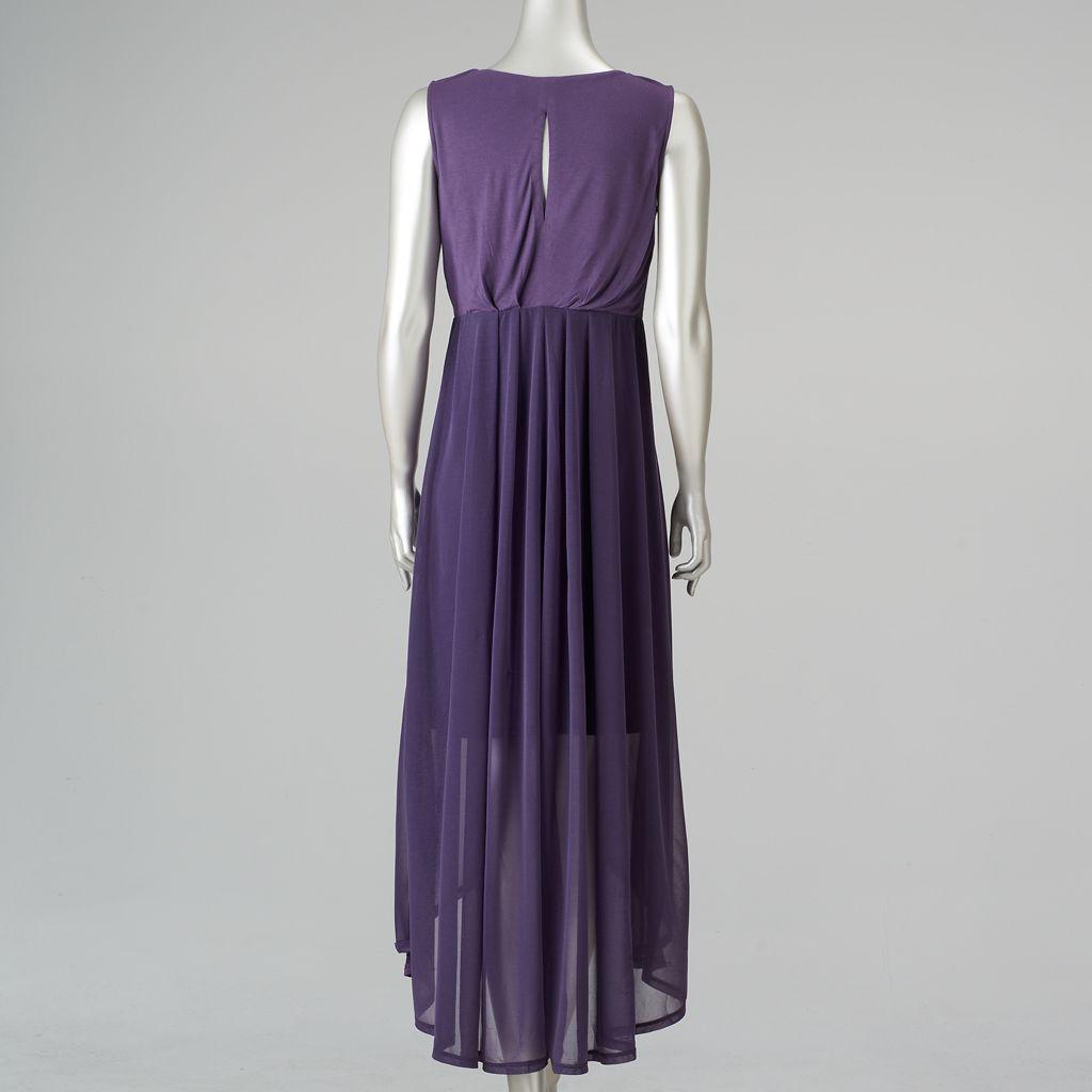 Women's Simply Vera Vera Wang Pleated High-Low Maxi Dress