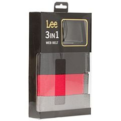 Men's Lee 3-Pack Web Belts