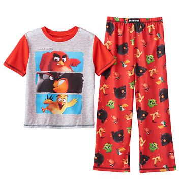 Boys 4-20 Angry Birds 2-Piece Pajama Set