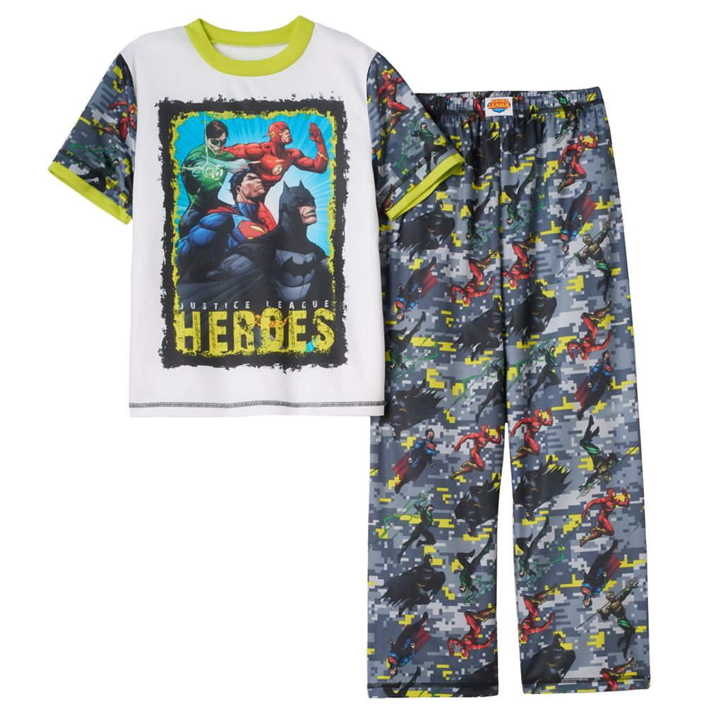 Boys 4-20 DC Comics Justice League 2-Piece Pajama Set