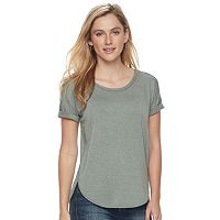 Women's SONOMA Goods for Life™ Roll Cuff French Terry Tee