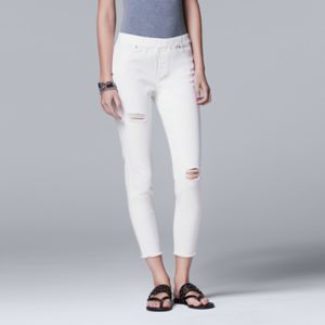 Simply Vera Vera Wang Ripped Denim Skimmer Leggings