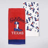 Celebrate Americana Together Texas Boots Kitchen Towel 2-pk.