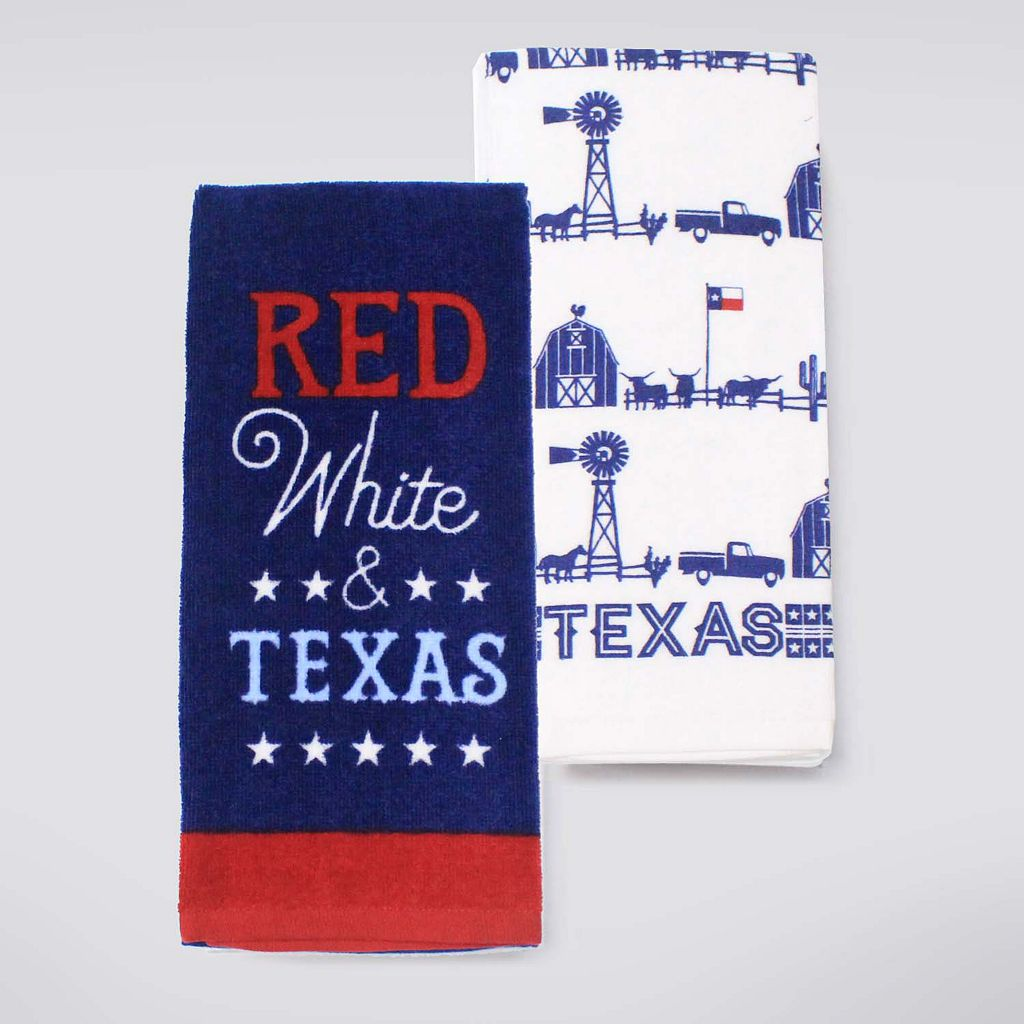 Celebrate Americana Together Texas Kitchen Towel 2-pk.