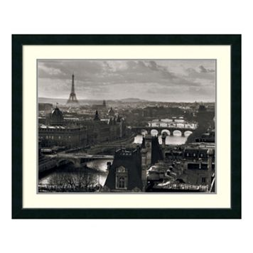 Amanti Art Views Of Paris - The River Seine Framed Wall Art