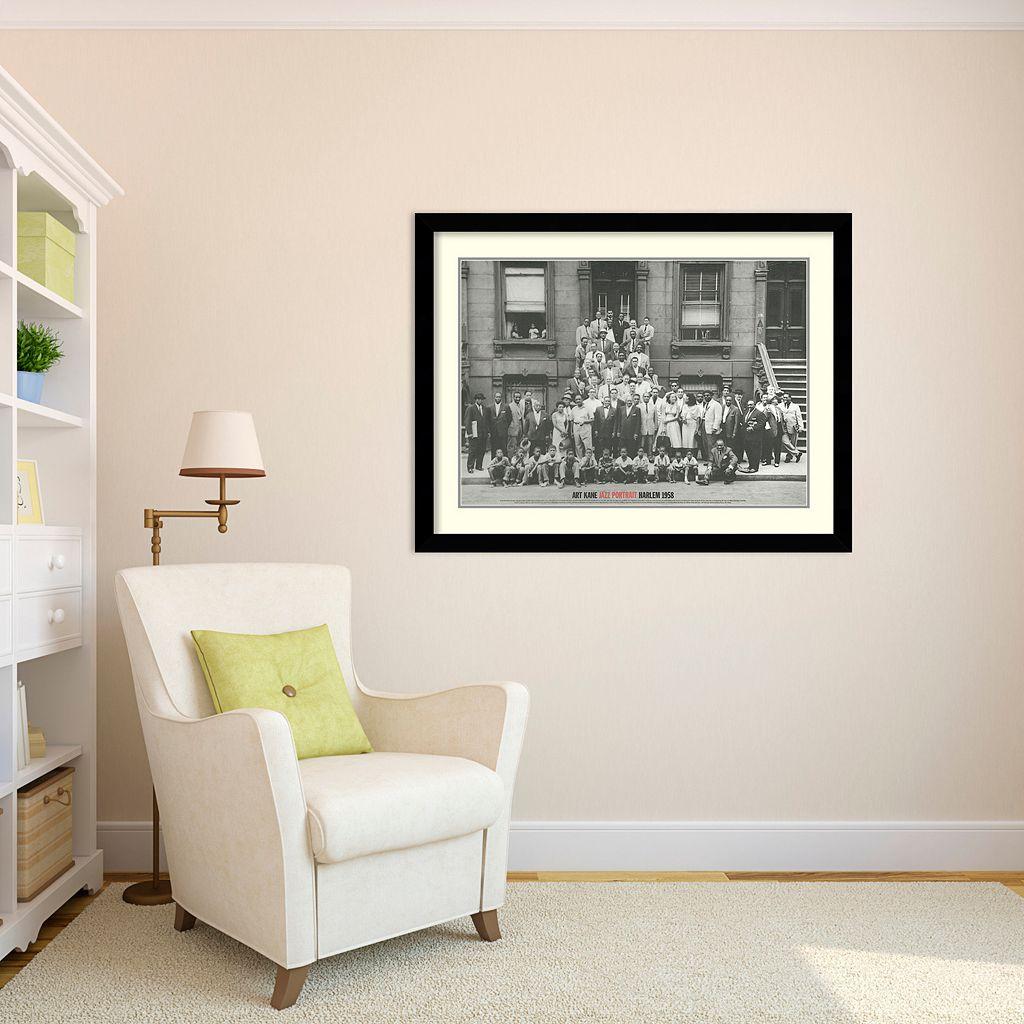 Amanti Art Jazz Portrait - Harlem, 1958 Framed Wall Art