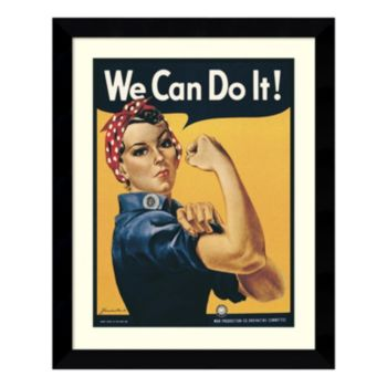 """Amanti Art Rosie The Riveter """"We Can Do It!"""" Framed Wall Art"""