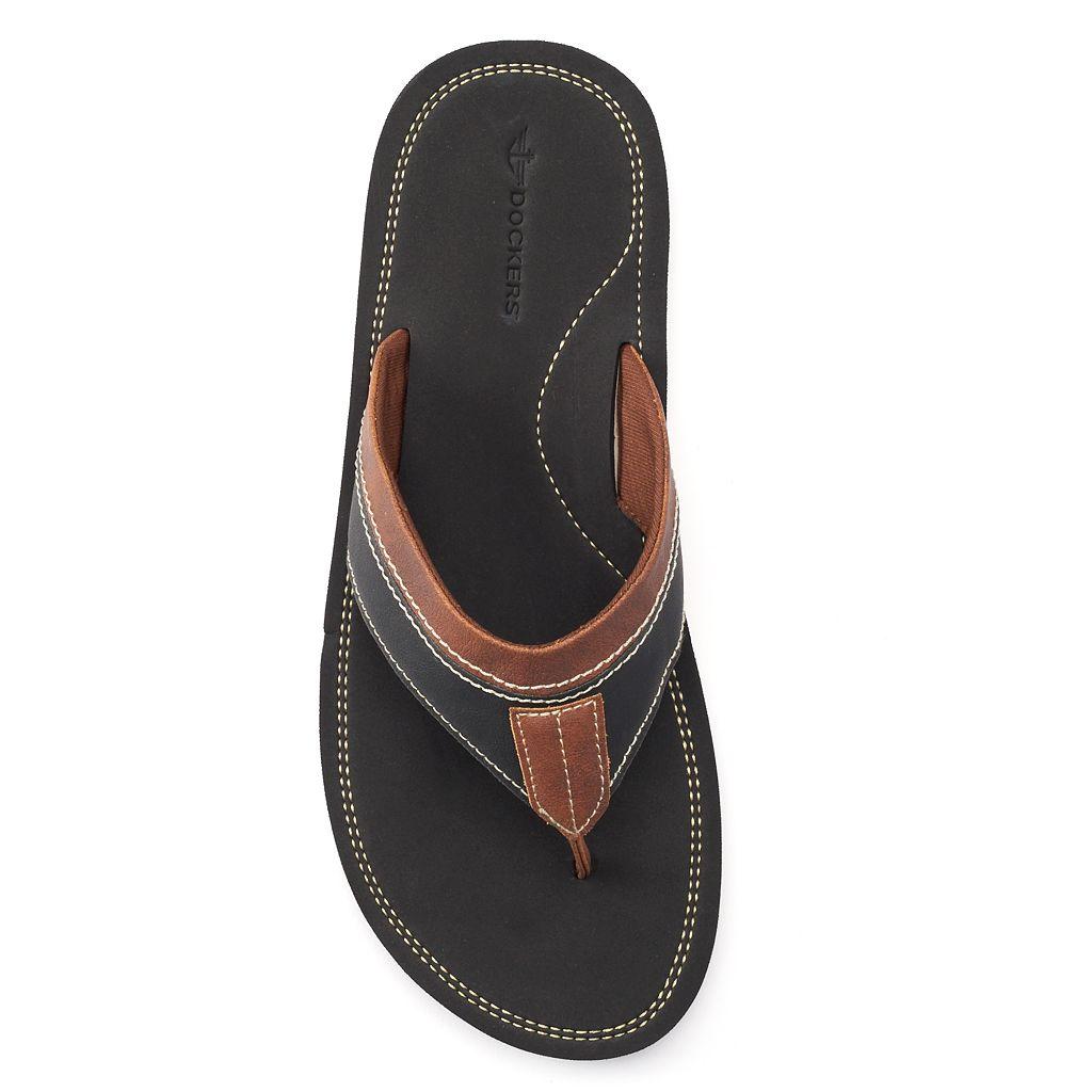 Men's Dockers Elevated Stitched Flip-Flops