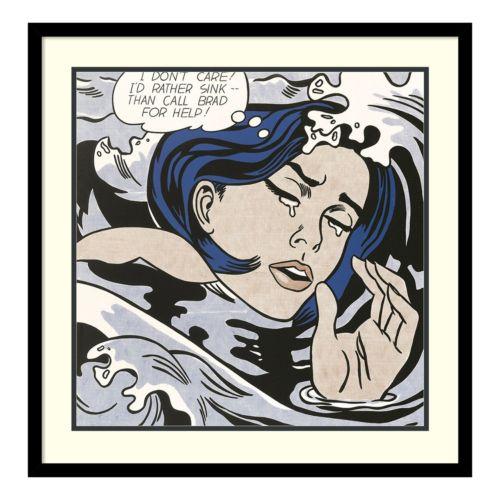 Amanti Art Drowning Girl, 1963 Framed Wall Art