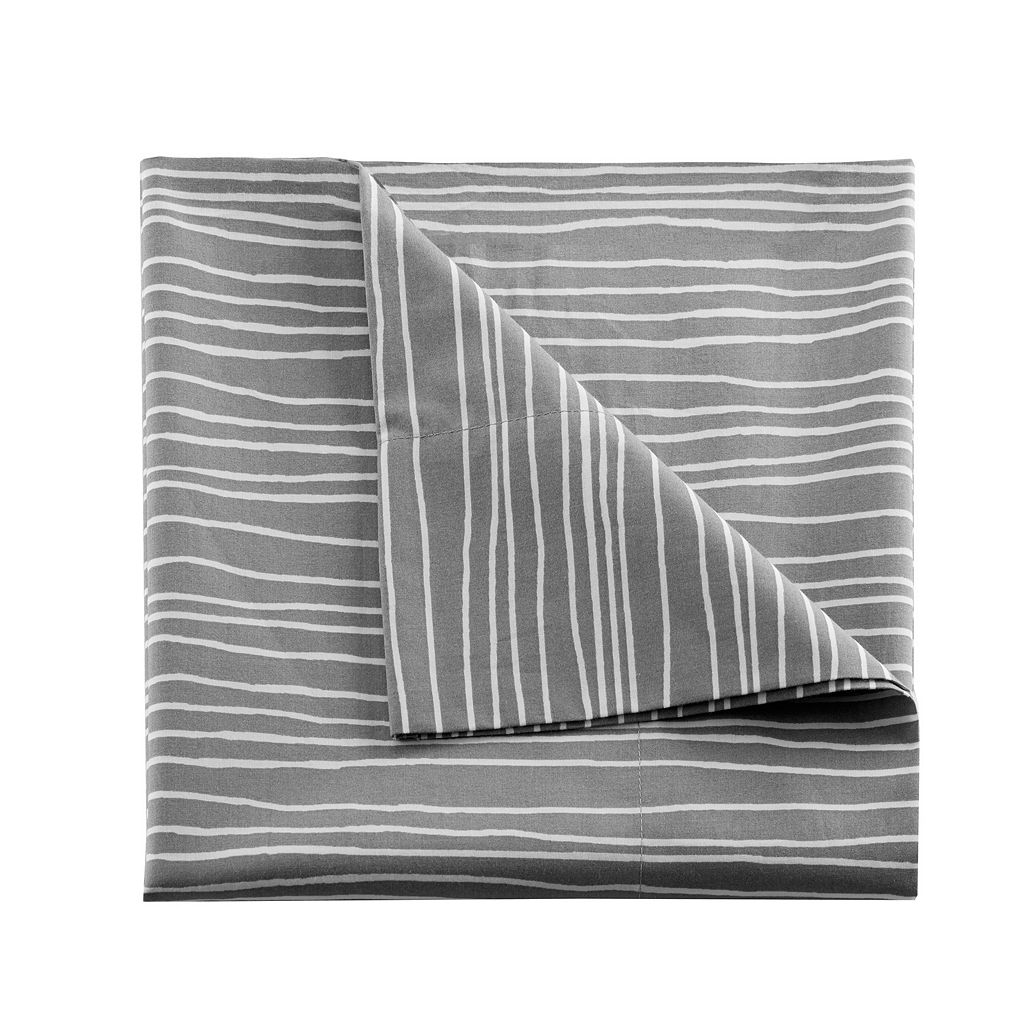 Urban Habitat Printed Lines Cotton Sheet Set