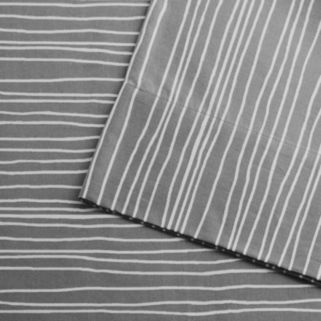 Urban Habitat Printed Lines Cotton Sheet Set