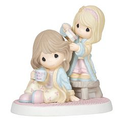 Precious Moments Girl Brushing Mom's Hair Figurine