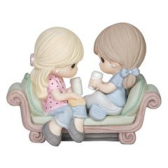 Precious Moments Girls Drinking Coffee Figurine