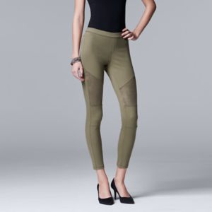 Simply Vera Vera Wang Denim Moto Skimmer Leggings