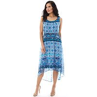 Women's AB Studio Medallion High-Low Maxi Dress