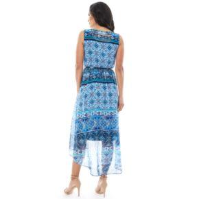 Women's AB Studio Medallion High-Low Maxi Dress