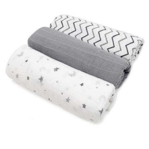 TL Care 3-pk. Muslin Swaddle Blankets