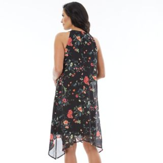 Women's AB Studio Print Handkerchief Shift Dress