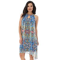 Women's AB Studio Print Handkerchief Shift Dress