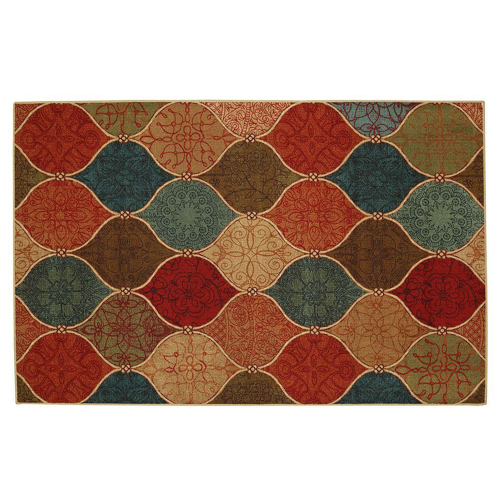 Mohawk® Home Riza Tile Fret Ogee Rug