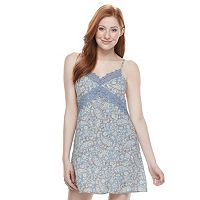 Juniors' Rewind Print Slip Dress