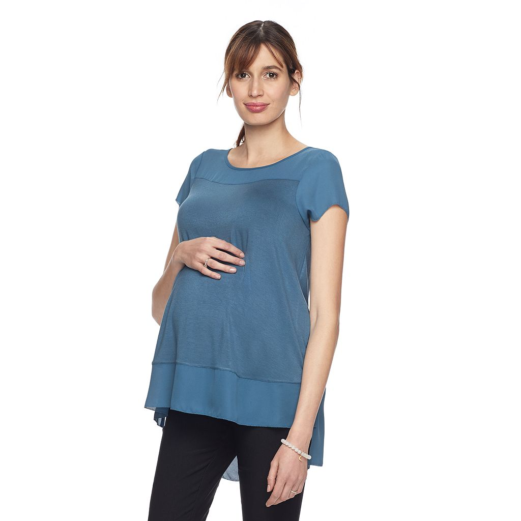 Maternity a:glow Mixed-Media Tee