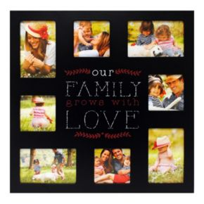 "New View ""Family Grows"" 8-Opening Collage Frame"