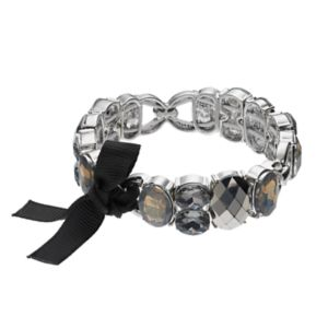 Simply Vera Vera Wang Ribbon Tie Faceted Stone Stretch Bracelet