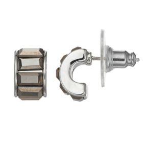 Simply Vera Vera Wang Baguette Half Hoop Earrings