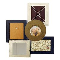 New View 1-Opening Multifunctional Corkboard Collage Frame