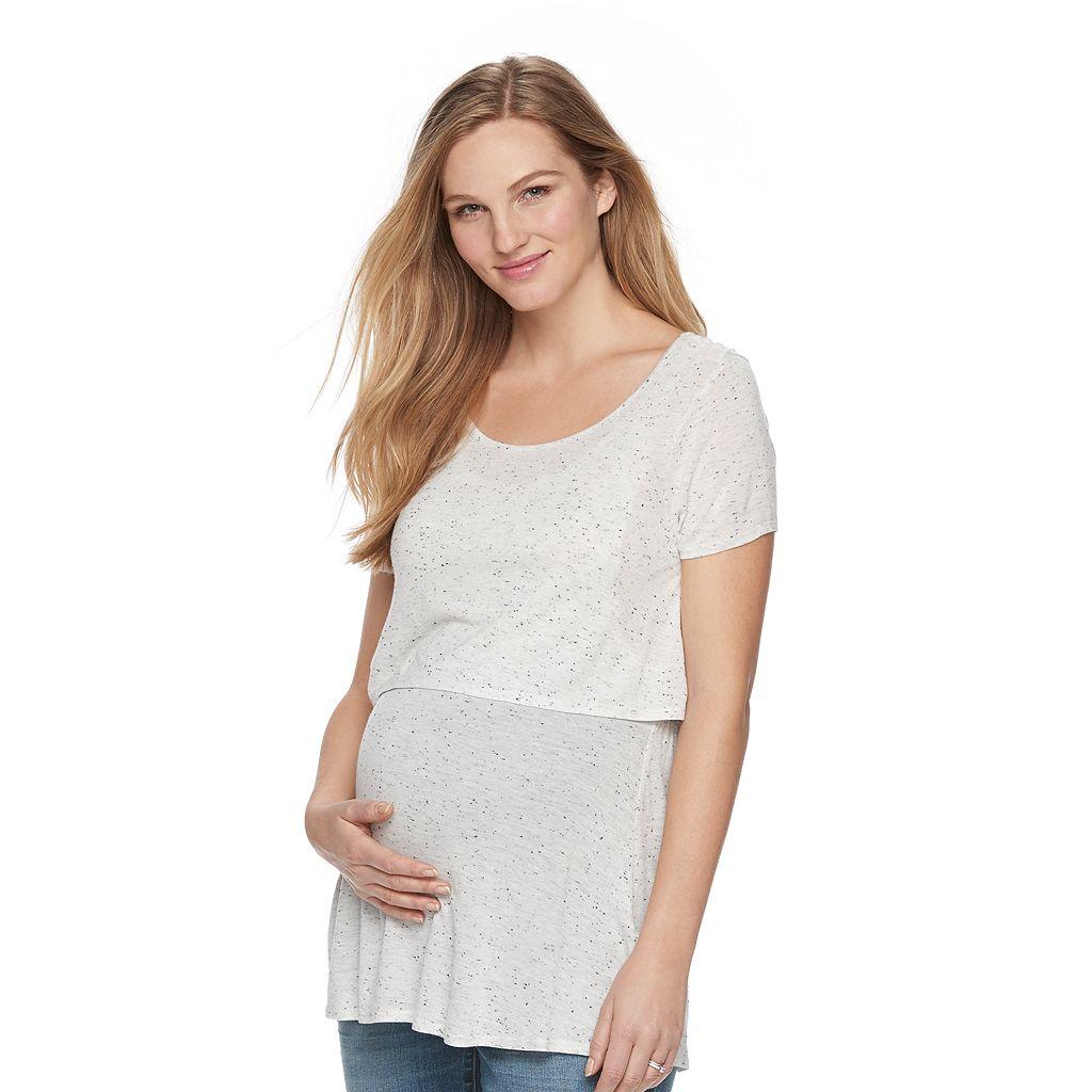 Maternity a:glow Nep Popover Nursing Tee