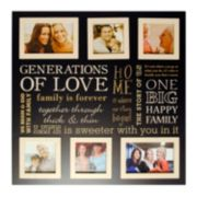 "New View ""Generations Of Love"" 6-Opening Collage Frame"