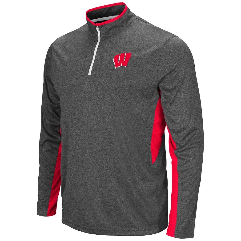 Men's Campus Heritage Wisconsin Badgers Atlas Quarter-Zip Windshirt