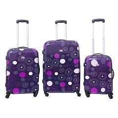 American Flyer Fireworks 3 pc Hardside Spinner Luggage Set