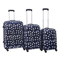 American Flyer Stars 3 pc Hardside Spinner Luggage Set