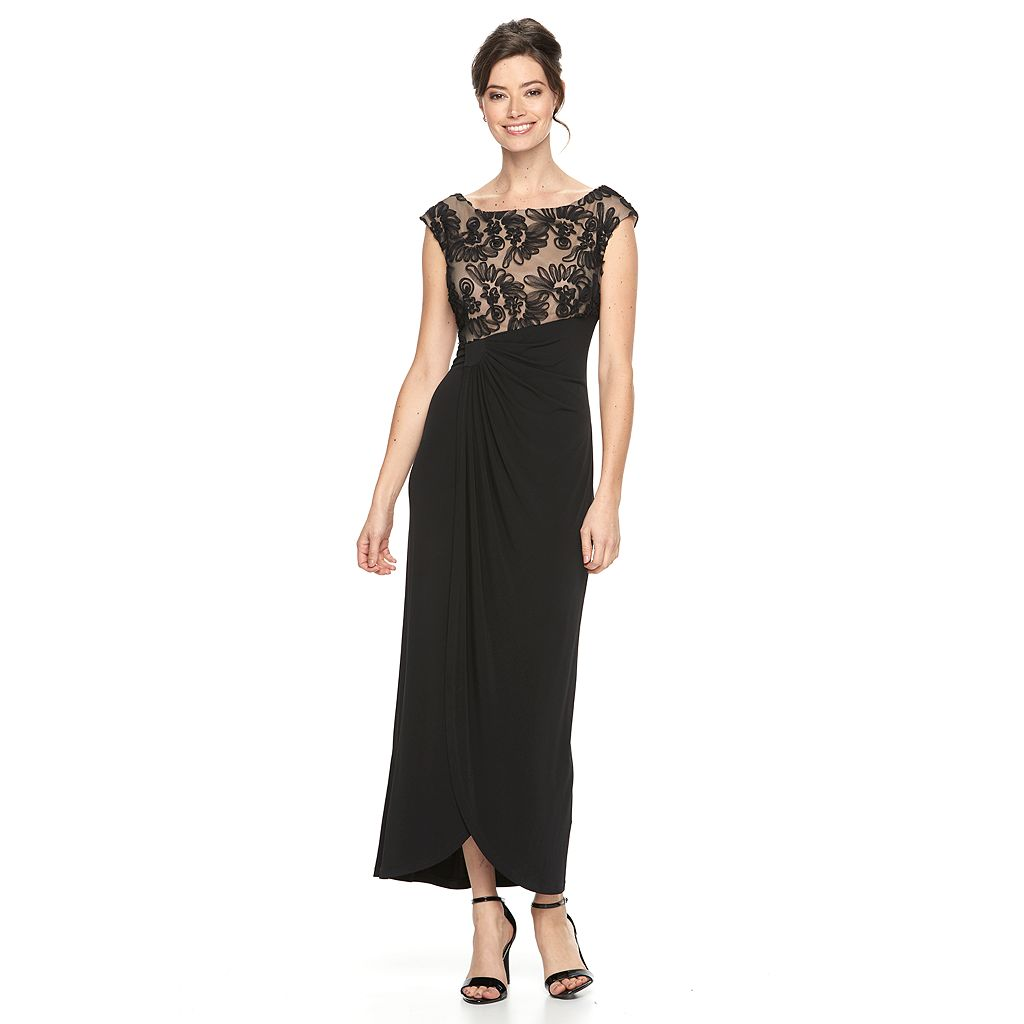 Women's Connected Apparel Soutache Evening Gown