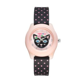 Limited Too Kids' Black Cat Polka-Dot Watch