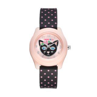 Limited Too Kids' Black Cat Polka-Dot Watch