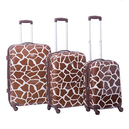 American Flyer Giraffe 3-Piece Hardside Spinner Luggage Set