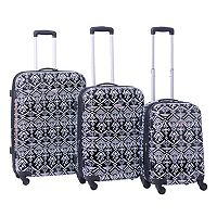 American Flyer Aztec 3 pc Hardside Spinner Luggage Set