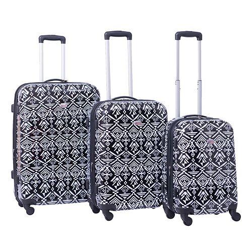 American Flyer Aztec 3-Piece Hardside Spinner Luggage Set