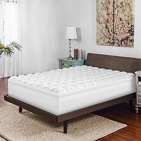 SensorPEDIC Baffled 4-inch Gel-Infused Memory Foam & Synthetic Down Topper