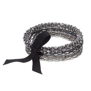 Simply Vera Vera Wang Ribbon Tie Multi Strand Stretch Bracelet
